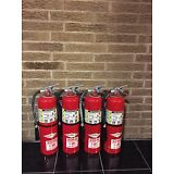 Set of 4 FIRE EXTINGUISHER 10lb #10 ABC NEW CERT TAG  (Nice)