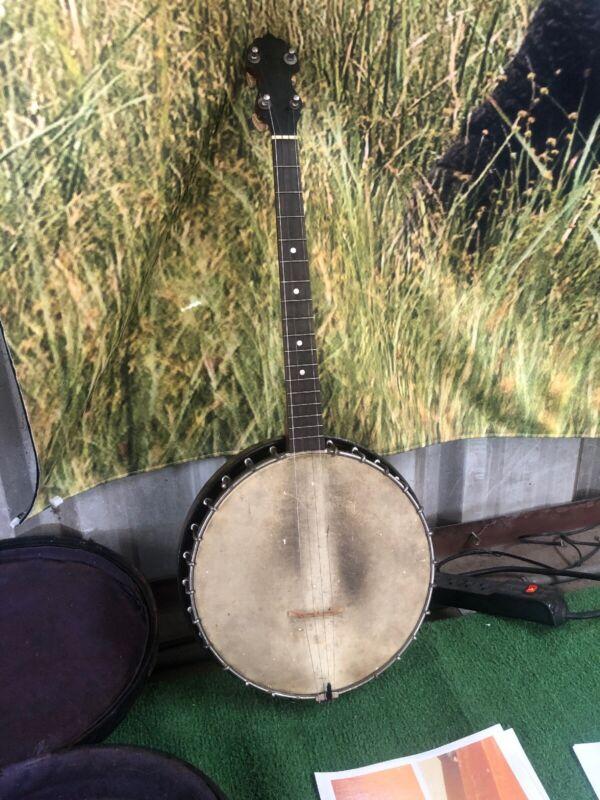 Vintage 1927 Vega Tenor  Banjo W Resonator  & Original Case