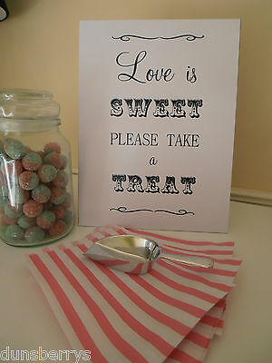 Free Standing Wedding/Party Candy Buffet Sign/SweetsTable..Can Be Personalised - Candy Buffet Stands