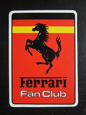 Auto-collant FERRARI FAN CLUB Deutschland Germany Allemagne Sticker