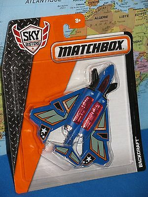 MATCHBOX MBX SKY BUSTERS BACKDRAFT AIRPLANE ***BRAND NEW & VHTF***