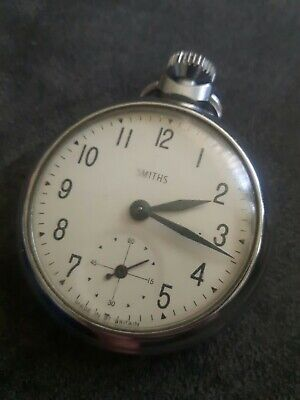 Gent's Vintage Smiths Hand Winding Mechanical Pocket Watch With Sub Second Dial.
