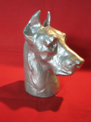 Vintage Mcclelland Barclay cast metal Great Dane Dog bust sculpture figurine