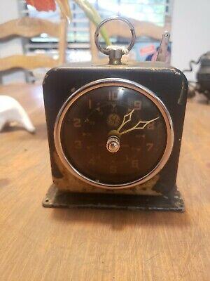 Vintage Interval Kitchen Darkroom Timer clock bell, hand wind 1950's GE black