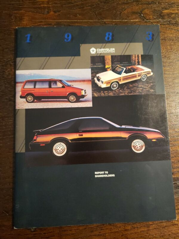 Chrysler Corporation 1983 Annual Report To Shareholders!