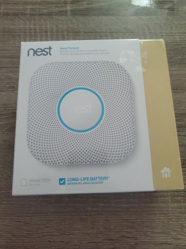 New Google Nest Protect Battery Smoke Carbon Monoxide Alarm 2nd Gen (S3000BWES)