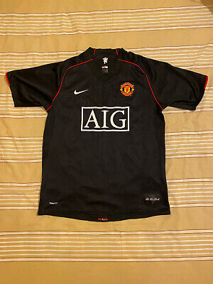 Manchester United Away Football Soccer Shirt Jersey 2007-08 Size M image