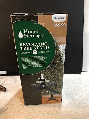 Revolving Christmas Tree Stand NEW 5168331 Home Heritage for 7 1/2' Artificial  ()