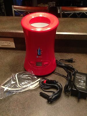 Red Silla Wine Chiller / Warmer Electric w/DC Car Adapter Portable LY-0602A