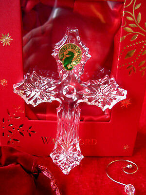 WATERFORD CHRISTMAS TREE DECORATION ANNUAL CROSS ORNAMENT BAUBLE NEW BOXED XMAS