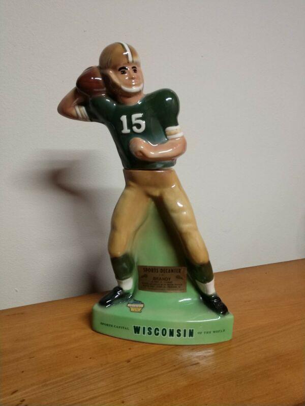 1971 Bart Starr #15 Green Bay Packers Football Decanter Brandy Royal Halburton