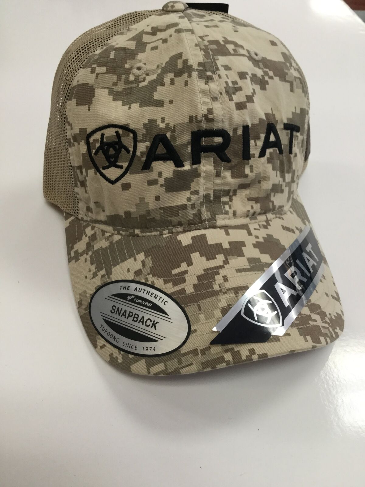 a8555d4d272b4 Ariat Mens Digital Camo Ball Cap A3000009156 for sale online