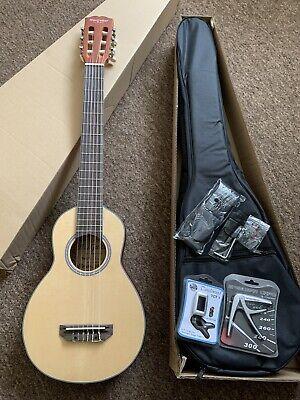 Left Hand Handed Travel Classical Acoustic Guitar Pack Padded Gig Bag,strap,pick