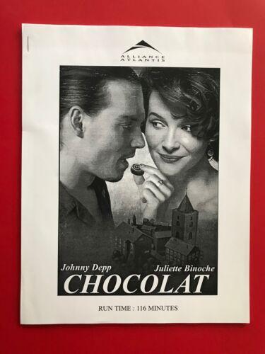 Chocolat (2000) | Johnny Depp | Original Promotional Media Press Kit