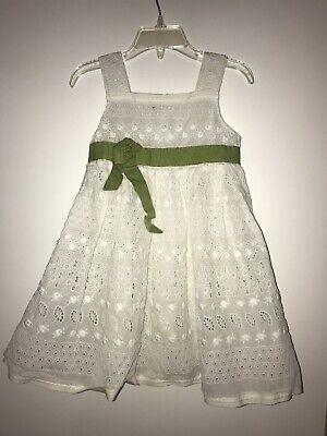 Girls I Pinco Pallino White Sleeveless Sheer Dress (Size 4)