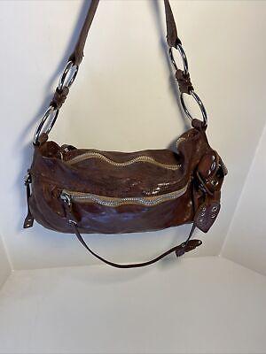 Miu Miu by Prada Brown Leather Shoulder Bag made in Italy