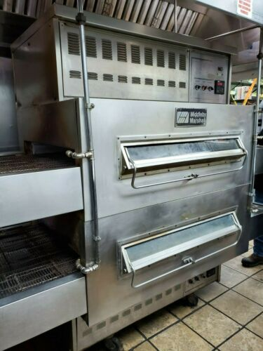 MIDDLEBY MARSHALL PS 350/360 DOUBLE STACK NATURAL GAS CONVEYOR PIZZA OVENS