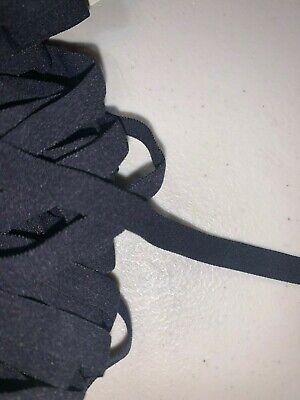 "20 yards soft black mask sewing stretch velveteen elastic 3/8"" wide SL78"