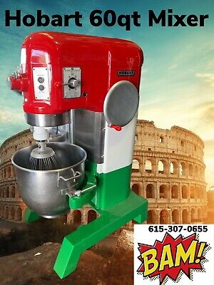 Hobart 60 Quart Mixer With Bowl And Hook- 230v 3 Phase- Italian Colors