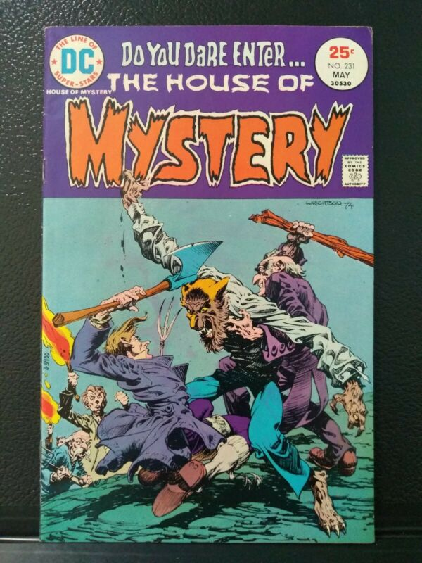 House Of Mystery #231 DC Comics May  1975  Fn- classic Wrightson werewolf cover
