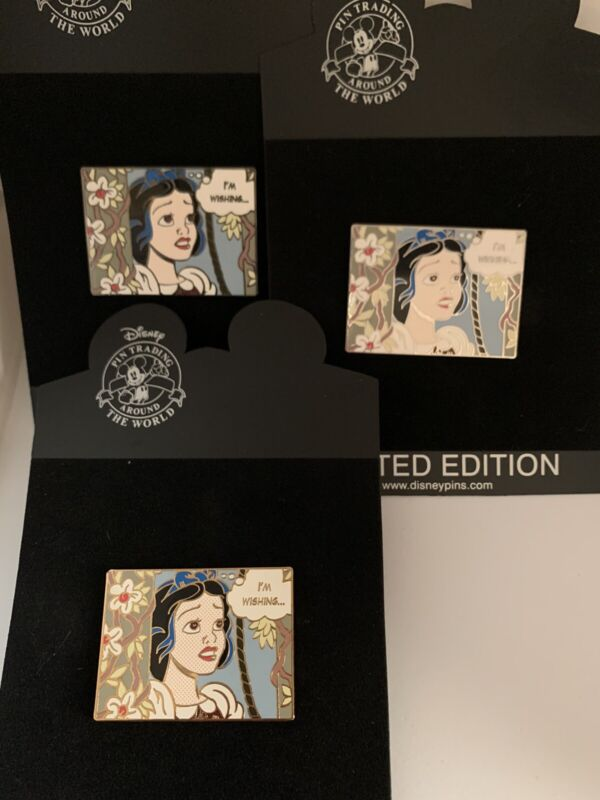 Disney Shopping Snow White Graphic Novel Pin LE 250 Artist Proof AP Set Of 3