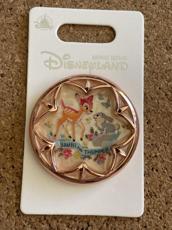 HKDL Hong Kong Disney Pin 2019 Golden Frame Printing Bambi & Thumper Pin