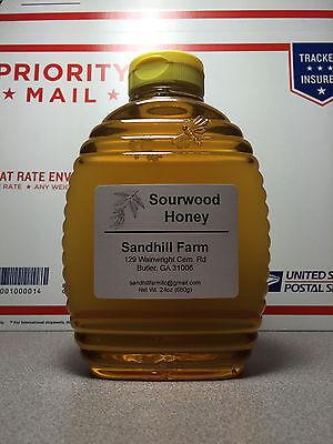 Raw Sourwood Honey North Georgia Mountains (24oz Squeeze bottle)