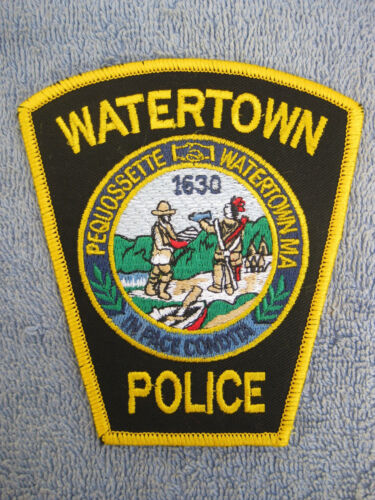 Original Real WATERTOWN MASSACHUSETTS POLICE DEPARTMENT SHOULDER PATCH WPD MA