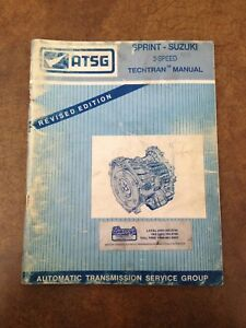 ATSG Suzuki Sprint Transmission Service Manual