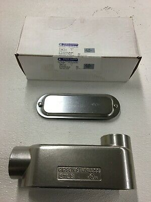 Gibson Stainless 1-12 7150 Lb Electrical Conduit Body Elbow Fitting W Cover