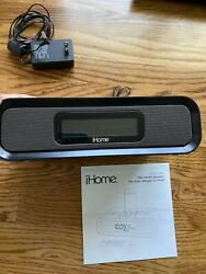 iHome Dual Alarm Clock AM/FM for iPhone and iPod BlackiP99B