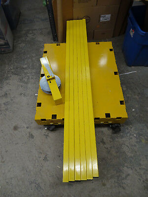 Saw Trax Heavy Duty 1000 Lb Load Capacity Yellow Safety Dolly