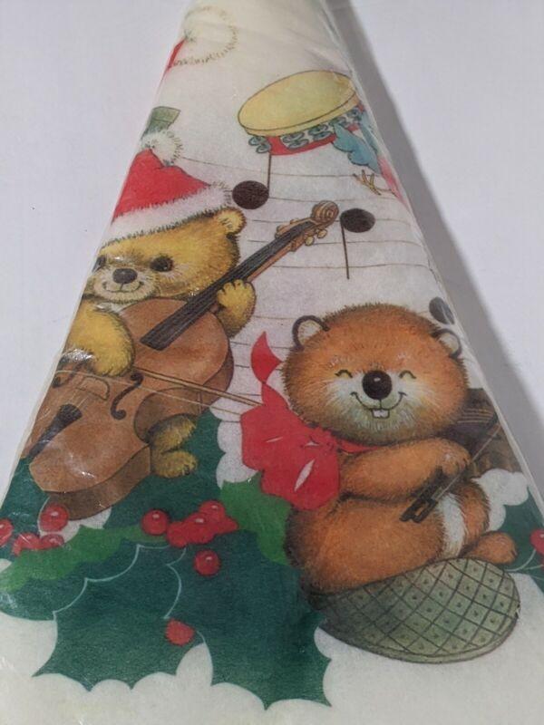 "Critter Sitters Tree skirt Christmas Enchantments 48"" felt"