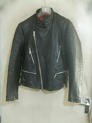 VINTAGE 80's PERFECTO Leather Motorcycle Jacket Size 40""