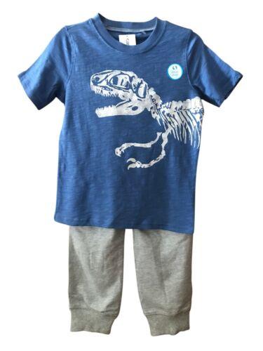 Carters Boys T-Rex Dinosaur T shirt and sweat pants Set Size 4/5