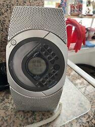 Sharper Image radio SI-738 CD/MP3 Shower Companion Alarm Working Tested