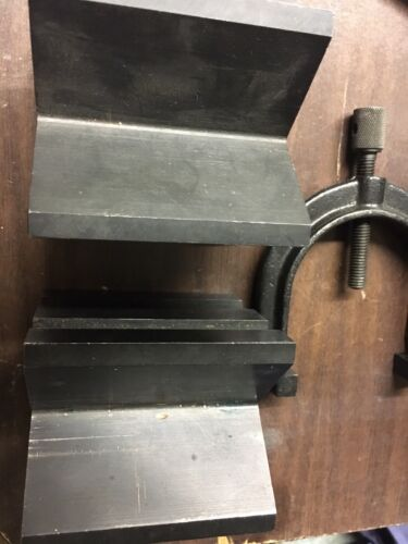 BROWN AND SHARPE 749-1 V - BLOCK SET WITH CLAMP