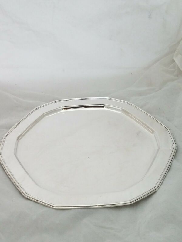 "Fabulous Sterling TIFFANY & CO 13"" Tray Dodecagon shape c1917 ~41.95ozt exc cond"