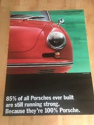 "Vintage 1993? Porsche 356 B Genuine Parts Classic Showroom Poster RARE! 40""x 30"""