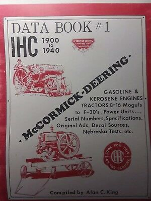 Data Book T-20 10-20 Farmall Titan International Tractractor Crawler Tractor Ih
