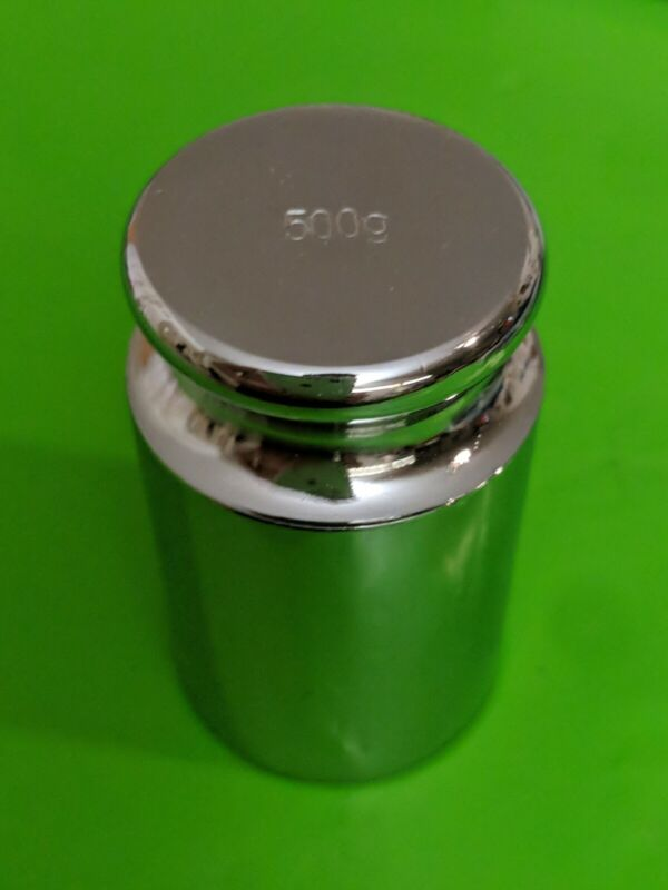 Nickel plated stainless Calibration Weight, 500g Nominal Mass
