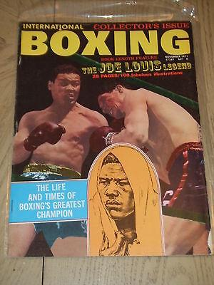 Ex Con Nov 1971 International Boxing Magazine Special Joe Louis Legend Story Foy