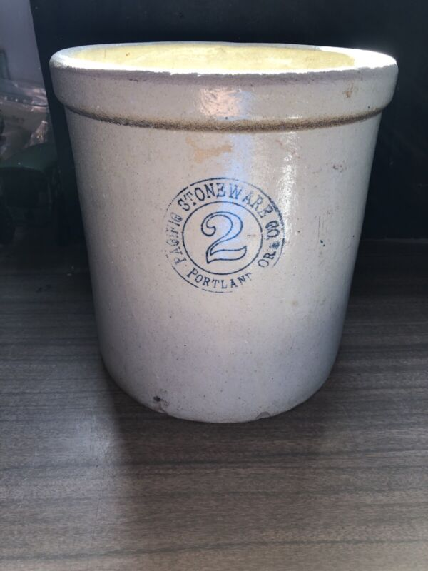 Antique Crock Pacific Stoneware Portland Oregon