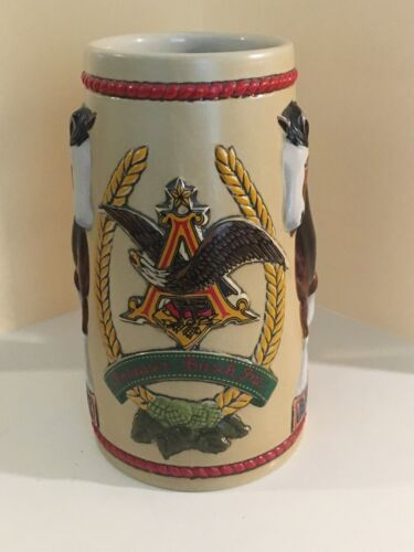 BUD LIGHT CLYDESDALES CERAMIC BEER STEIN / MUG