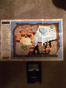 Final Fantasy Mystic Quest SNES Map and Manual London Ontario image 1