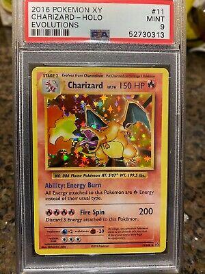 2016 Pokemon XY Evolutions Charizard Holo 11/108 - PSA 9 Mint