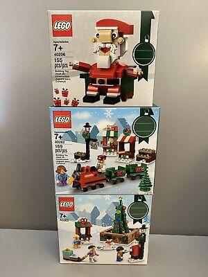 Lego Holiday Lot- 40206 Santa, 40262 Train Ride and 40263 Town Square