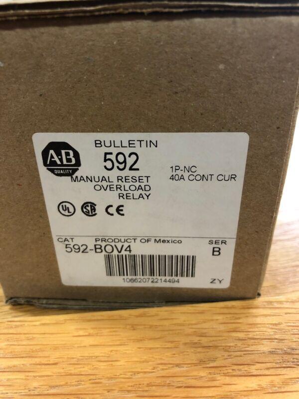 Allen Bradley Overload Relay, 593-BOV4, Series B