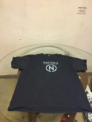 Men's Nautica Jeans Blue Graphic T-Shirt XL Good Condition
