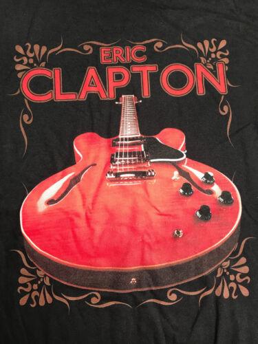 """ERIC CLAPTON 2018 EUROPEAN / USA TOUR """"GIBSON"""" T-SHIRT BLACK"""